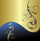 Fundo floral do ouro abstrato Imagens de Stock Royalty Free