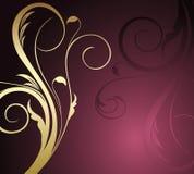 Fundo floral do ouro abstrato Imagens de Stock