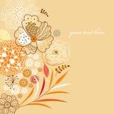 Fundo floral do outono Imagem de Stock Royalty Free