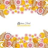 Fundo floral do outono para a Web ou a cópia Fotografia de Stock