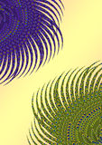 Fundo floral do pavão ilustração stock