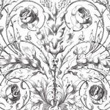 Fundo floral do scrapbook do damasco do vintage Fotos de Stock