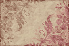 Fundo floral do Scrapbook do vintage Foto de Stock Royalty Free