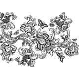 Fundo floral do Scrapbook do vintage Fotografia de Stock