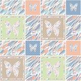 Fundo floral do teste padrão da textura do às bolinhas retro dos retalhos Imagens de Stock Royalty Free