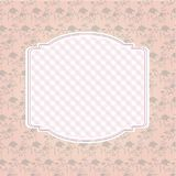Fundo floral do teste padrão e quadro vazio Fotografia de Stock