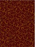 Fundo floral do teste padrão dos rolos de Brown Imagens de Stock