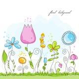 Fundo floral do verão ilustração do vetor