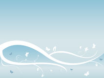 Fundo floral do vetor abstrato com borboletas Imagens de Stock