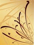Fundo floral do vetor com borboletas Imagem de Stock Royalty Free