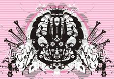 Fundo floral do vetor de Grunge ilustração royalty free