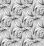 Fundo floral do vetor de linhas tiradas Fotos de Stock