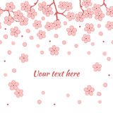 Fundo floral do vetor romântico abstrato com ramo de sakura Imagem de Stock