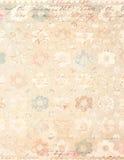 Fundo floral do vintage chique gasto com certificado imagens de stock