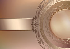 Fundo floral do vintage com pérolas e ornamento Imagens de Stock Royalty Free