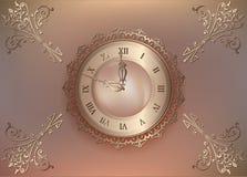 Fundo floral do vintage com pérolas e ornamento Imagem de Stock Royalty Free