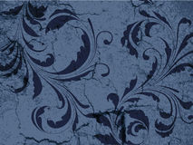 Fundo floral do vintage de Grunge Imagens de Stock Royalty Free