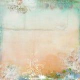 Fundo floral do vintage do frame da mola Fotografia de Stock