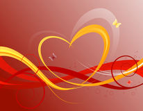 Fundo floral dos Valentim Imagem de Stock