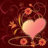 Fundo floral dos Valentim Fotos de Stock Royalty Free