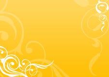 Fundo floral dourado Foto de Stock Royalty Free