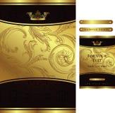 Fundo floral dourado Imagens de Stock