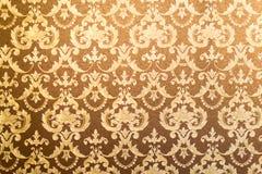 Fundo floral dourado da parede Imagem de Stock