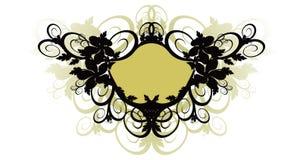 Fundo floral e frame do vetor Imagens de Stock Royalty Free