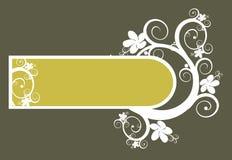 Fundo floral e frame do vetor Imagem de Stock Royalty Free