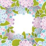 Fundo floral elegante com as flores 3d de papel Imagem de Stock