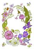 Fundo floral elegante com folhas verdes Fotos de Stock Royalty Free