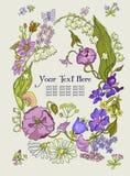 Fundo floral elegante com folhas verdes Fotografia de Stock Royalty Free