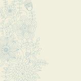 Fundo floral em cores claras ilustração do vetor