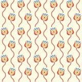 Fundo floral estilizado Teste padrão sem emenda retro Fotografia de Stock Royalty Free