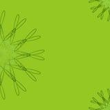 Fundo floral geométrico abstrato verde para convites, cartões, cartão Foto de Stock Royalty Free