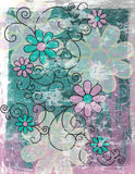 Fundo floral Grunge   Imagens de Stock