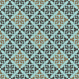 Fundo floral marrom verde Imagens de Stock Royalty Free
