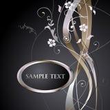 Fundo floral metálico Imagens de Stock Royalty Free