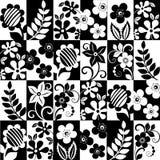 Fundo floral monocromático Ilustração do Vetor