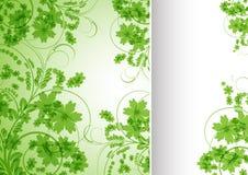 Fundo floral no estilo retro Fotos de Stock Royalty Free