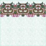 Fundo floral ornamentado com listra do ornamento Foto de Stock Royalty Free