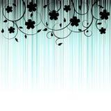 Fundo floral, ornamento, folhas e flores Imagens de Stock Royalty Free