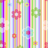 Fundo floral pastel sem emenda do vetor Imagem de Stock