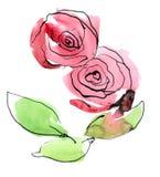 Fundo floral pintado sumário Fotografia de Stock Royalty Free