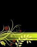 Fundo floral preto ilustração royalty free