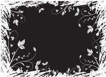 Fundo floral preto Fotos de Stock