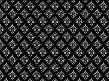 Fundo floral preto e cinzento. Fotografia de Stock Royalty Free