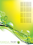 Fundo floral/projeto futurista Imagem de Stock Royalty Free