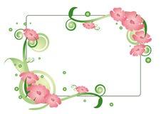 Fundo floral retangular Fotografia de Stock Royalty Free