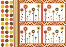 Fundo floral retro Foto de Stock Royalty Free